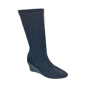 Free People Seville sparkle wedge sock boots
